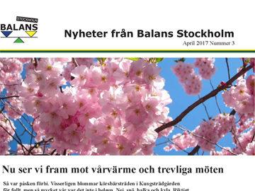 Nyheter från Stockholm – nr 3 – mars 2017
