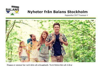 Nyheter från Stockholm – nr 4 – september 2017